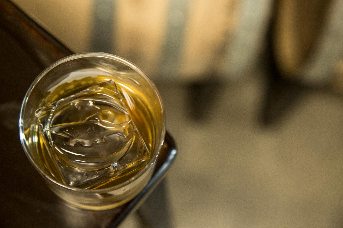 Bourbon On The Iron Fish Rock