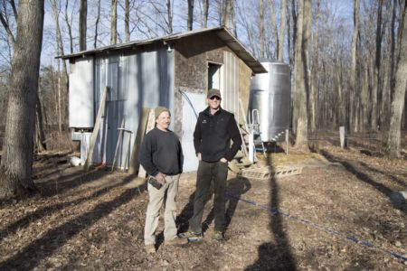 Richard And Scott At The Maple Syrup Sugar Bush-min