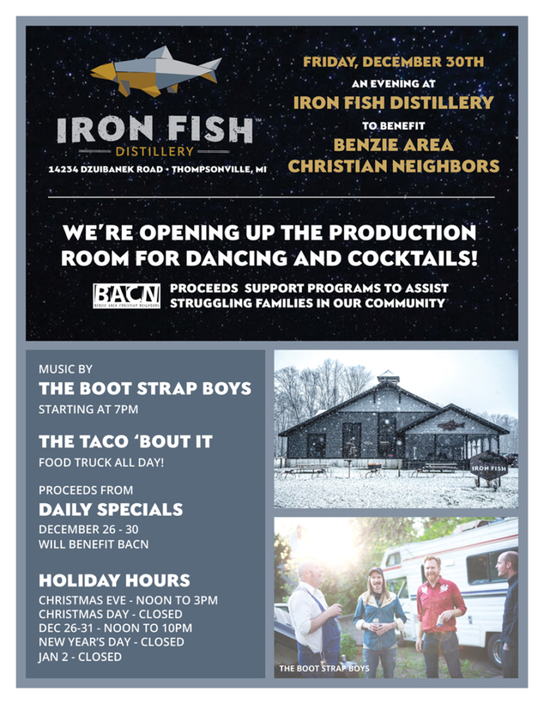 Holiday week fun to support a great cause iron fish for Iron fish distillery