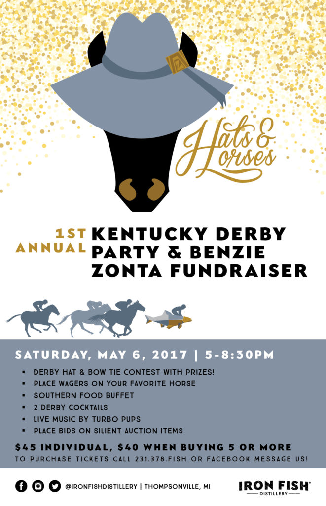 Hats and Horses: First Annual Kentucky Derby Party and Benzie Zonta Fundraiser