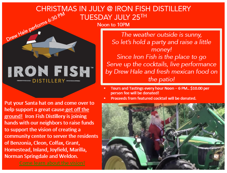 Christmas in july iron fish distillery for Iron fish distillery