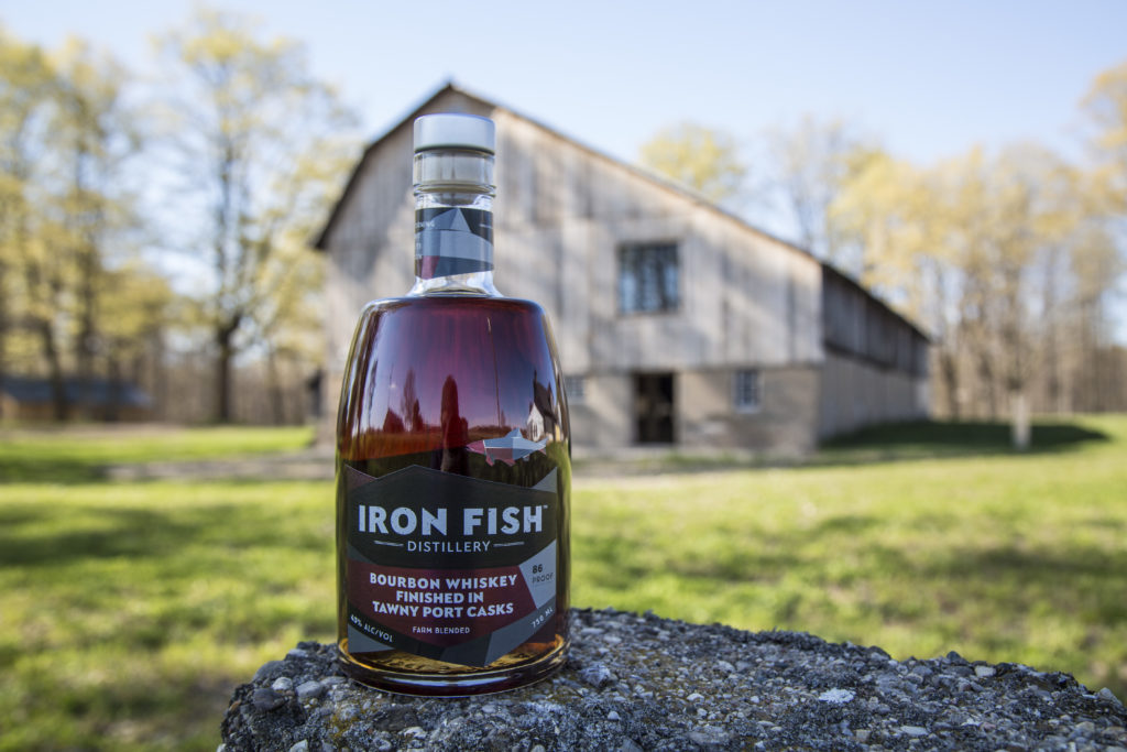 New release from michigan s only farm distillery bourbon for Iron fish distillery