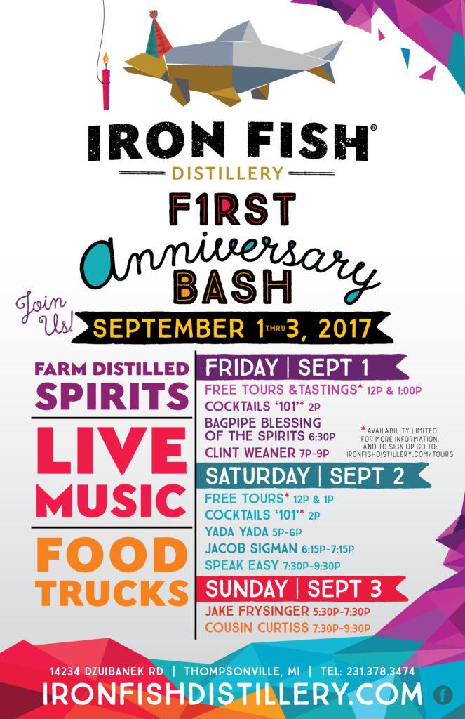Ironfish first anniversary bash iron fish distillery for Iron fish distillery