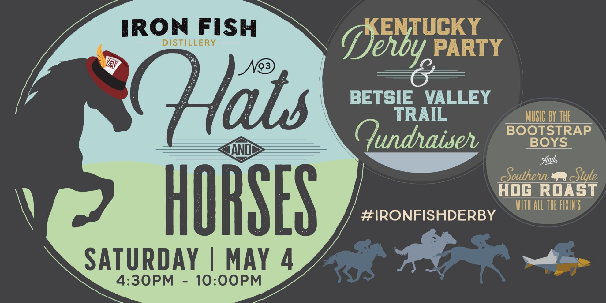Iron Fish Hats & Horses – Kentucky Derby Party & Betsie Valley Trail Fundraiser