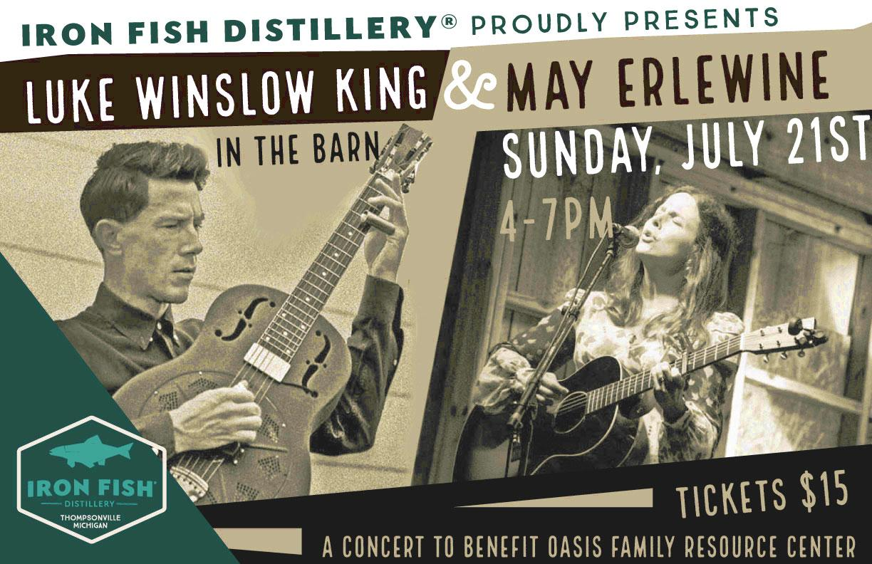 Luke Winslow King and May Erlewine Live at Iron Fish