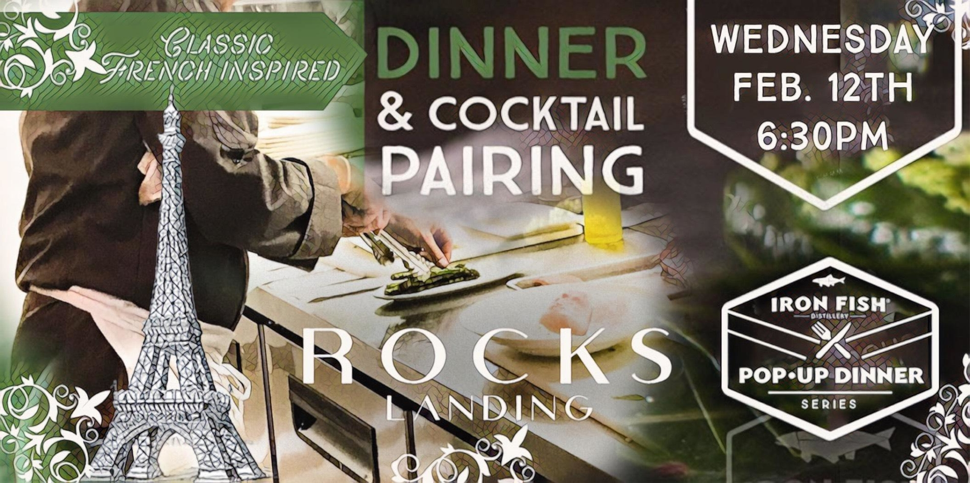 Rocks Landing X Iron Fish // French-Inspired Pop-Up Dinner
