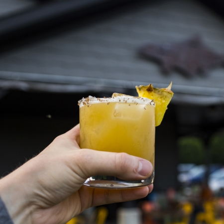 smoked pineapple cocktail